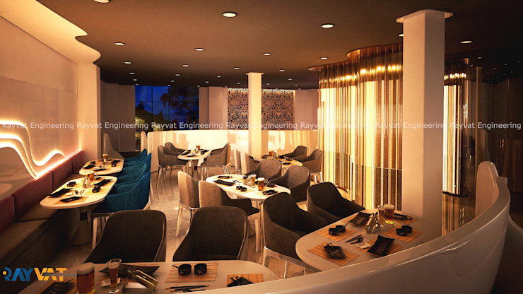 Spice Theme Restaurant California Modern Dining Room by Rayvat Rendering Studio Modern