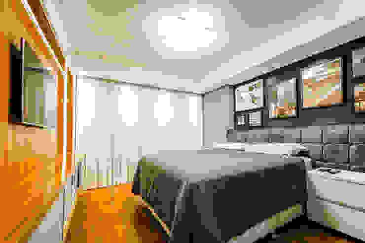 Saia Arquitetura Modern style bedroom