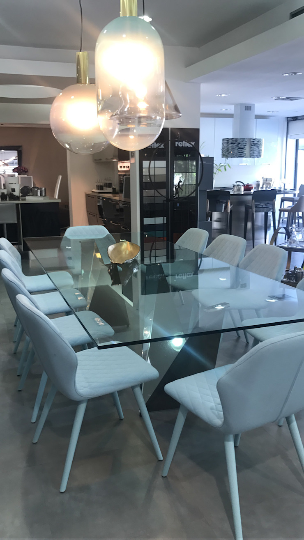 Mesa de Comedor Reflex con sillas Bross de Spazio di Casa Venezuela Moderno Vidrio