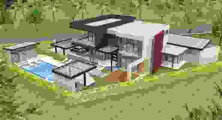 Diseño 3d casa/vivienda Casas de estilo mediterráneo de Constructora ANyG Mediterráneo