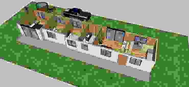 Diseño de redistribución casa de campo de Constructora ANyG Rural Madera Acabado en madera