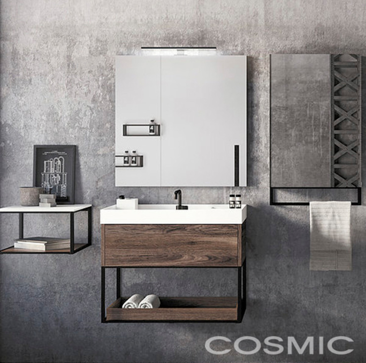 Mueble The grid / Cosmic Baños de estilo industrial de Skyfloor Industrial
