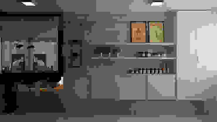 Cozinha | Balcão por Area 3 Arquitetura Moderno Concreto