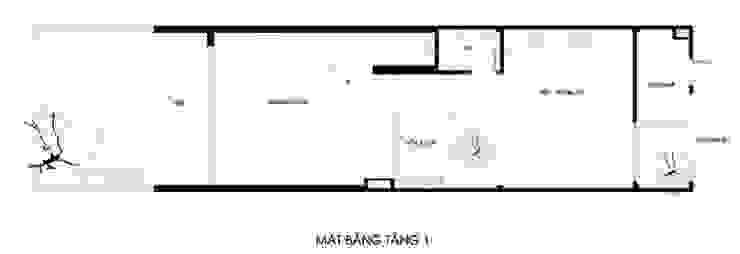 Thiết kế bản vẽ mặt bằng nhà ống 2 tầng:  Nhà gia đình by Công ty TNHH Xây Dựng TM – DV Song Phát