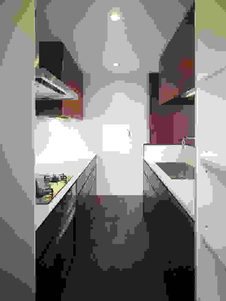 AY 庭とパティオのある家 モダンな キッチン の 山縣洋建築設計事務所 モダン
