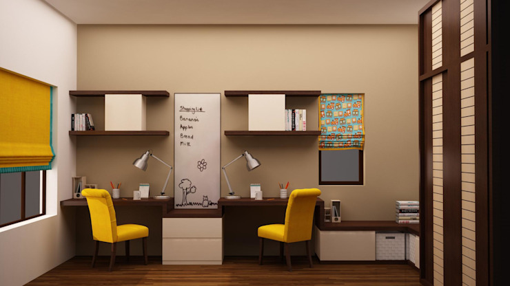 Kids Study Render homify Modern nursery/kids room
