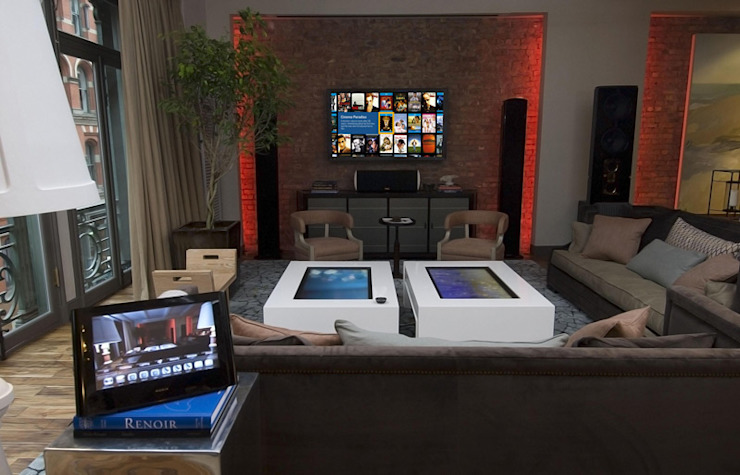 Smart Home Automation Omnitrack Modern living room