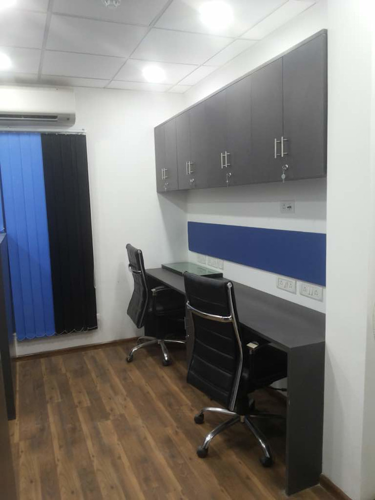 Corporate Interiors Okhla New Delhi Minimalist office buildings by SDINC Minimalist