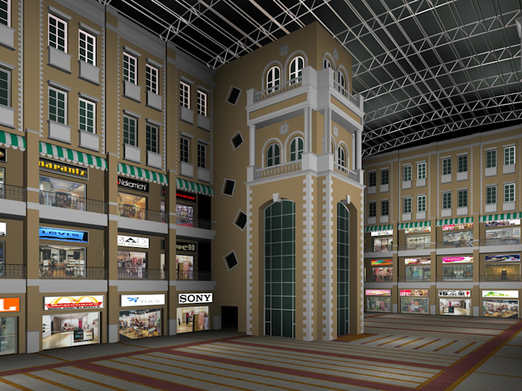 Shopping mall interior by SDINC Classic