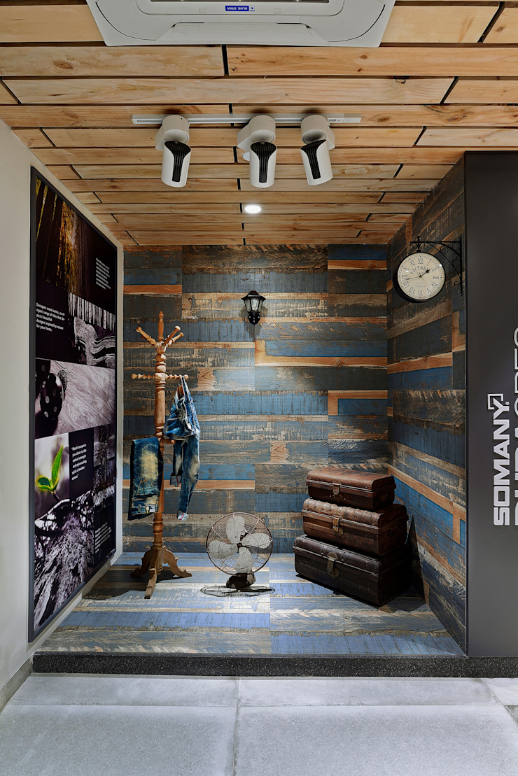 SOMANY EXPERIENCE CENTER Scandinavian style offices & stores by Ar. Milind Pai Scandinavian Tiles