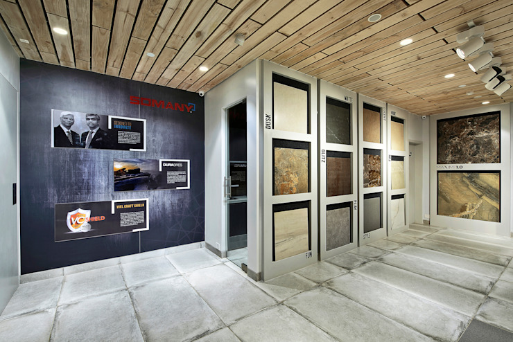 SOMANY EXPERIENCE CENTER Modern offices & stores by Ar. Milind Pai Modern Tiles
