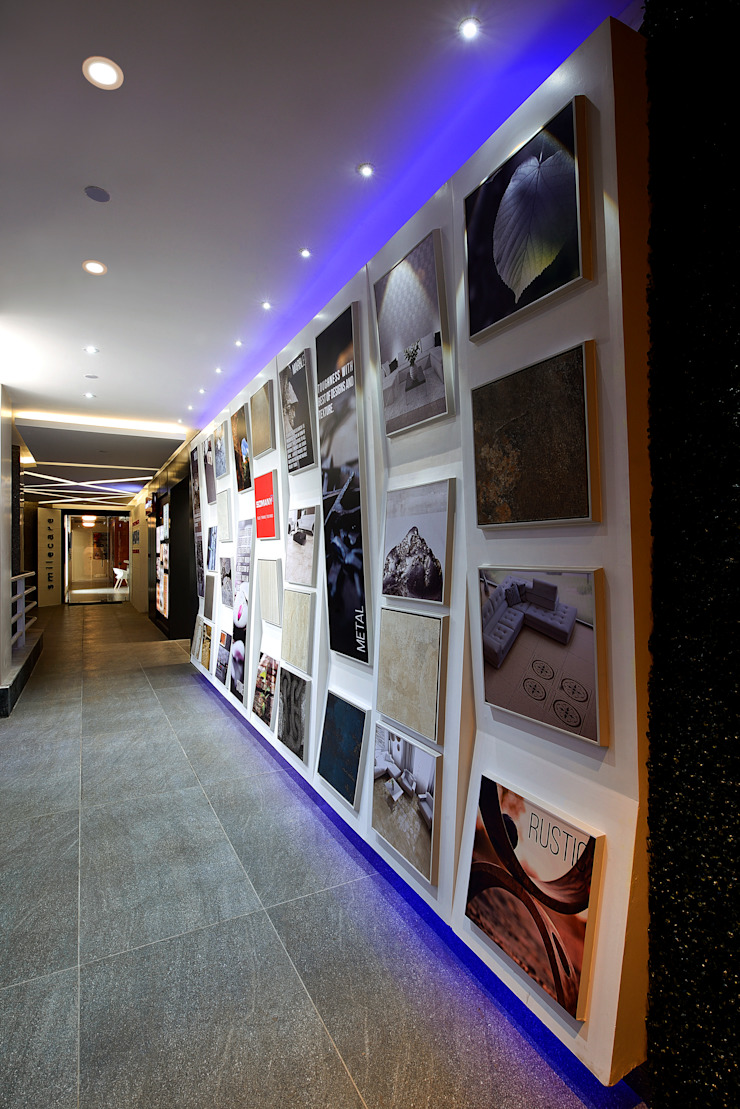 SOMANY EXPERIENCE CENTER Modern offices & stores by Ar. Milind Pai Modern MDF