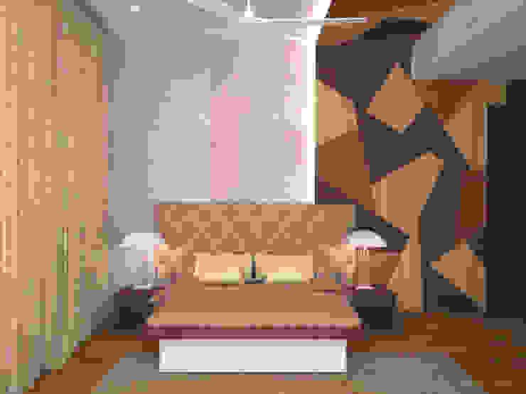 Headboard style Mediterranean style bedroom by homify Mediterranean