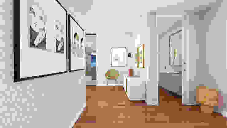 Couloir, entrée, escaliers scandinaves par SHI Studio, Sheila Moura Azevedo Interior Design Scandinave