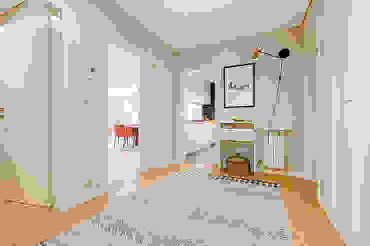 Apartamento Contemporâneo - T4 com cozinha aberta para a sala - PORTO por ShiStudio Interior Design Escandinavo