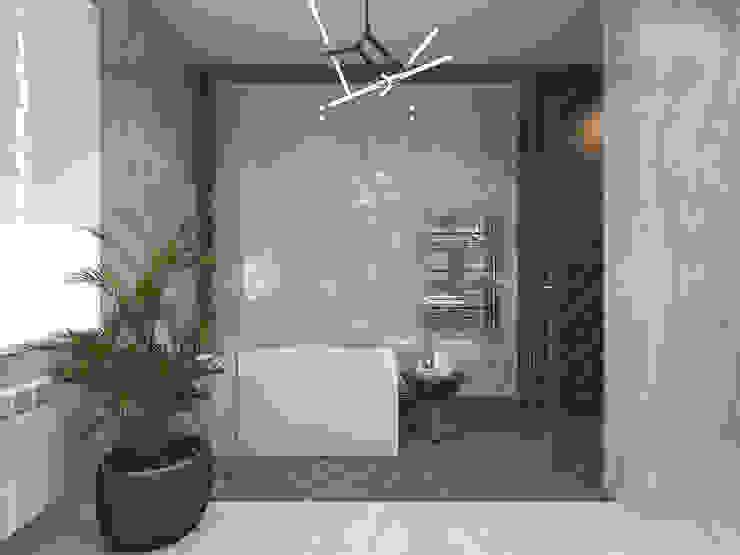 Moderne badkamers van Студия дизайна и визуализации интерьеров Ивановой Натальи. Modern