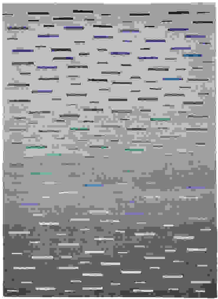 Deirdre Dyson SEA MIST hand knotted wool & silk rug by Deirdre Dyson Carpets Ltd Modern