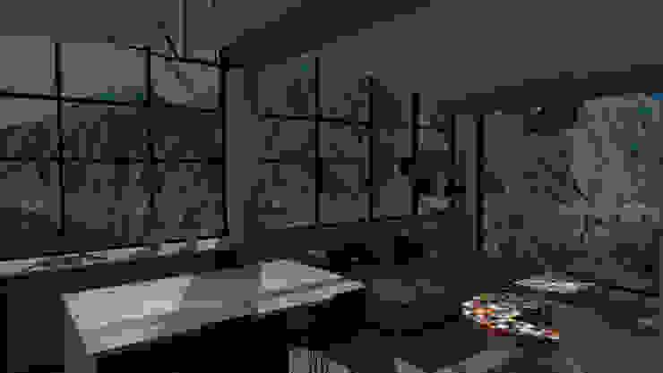 ARQUITECTURA. Casa Geyer Salas de estilo ecléctico de Proyectos Kukenán SAS Ecléctico