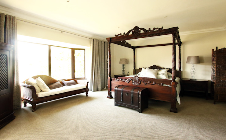 Country style bedroom by JSD Interiors Country Wood Wood effect