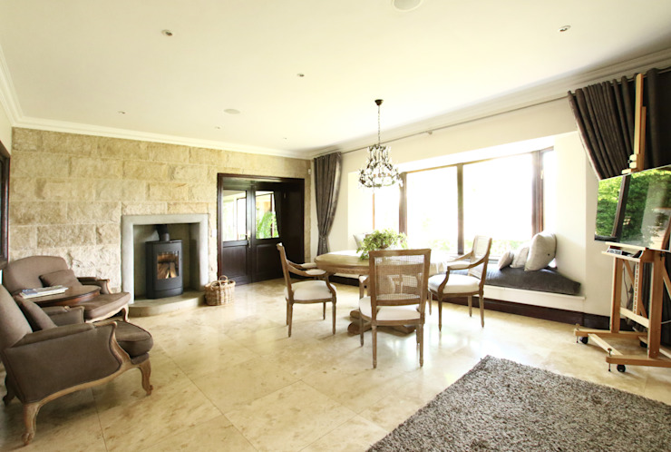 Country style dining room by JSD Interiors Country Limestone