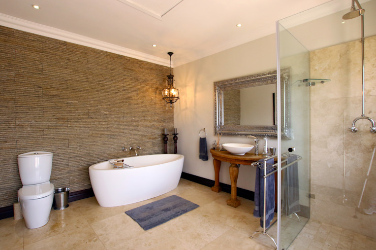 Country style bathroom by JSD Interiors Country Limestone