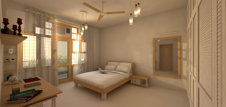 Gupta Residence at Lajpat Nagar | New Delhi Classic style bedroom by Studio Square Design Co. Classic