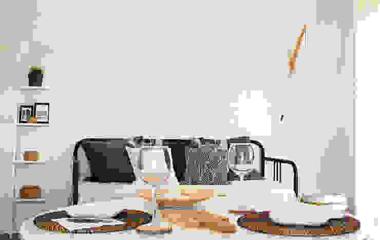 Mesa de refeições em open space Rima Design Sala de jantarMesas