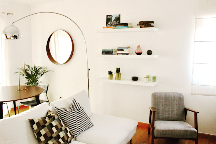 Sala de estar e jantar por Rima Design Moderno