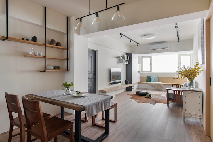 辰林設計 Scandinavian style dining room White