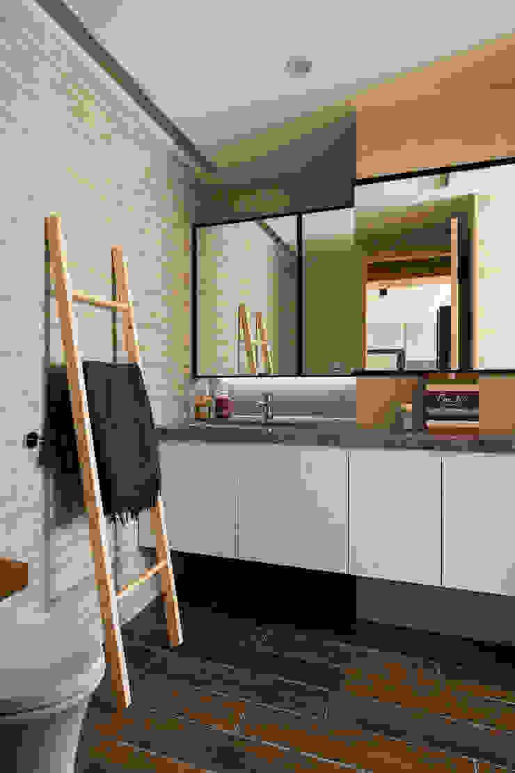 辰林設計 Scandinavian style bathroom Beige