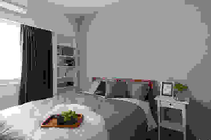 辰林設計 Scandinavian style bedroom Green