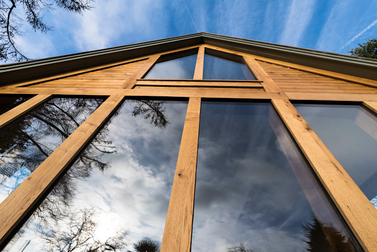 Oak Framed extension by John Gauld Photography Modern Wood Wood effect