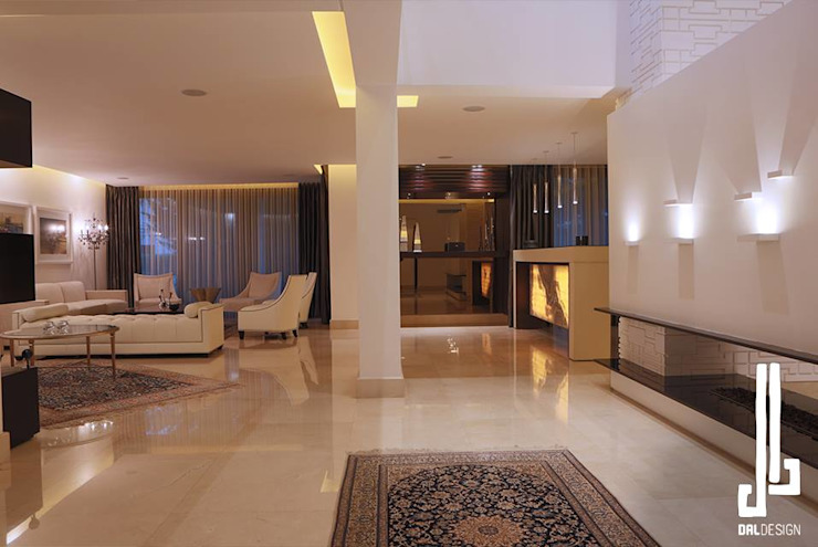 Nassars Private Villa Modern Living Room by dal design office Modern