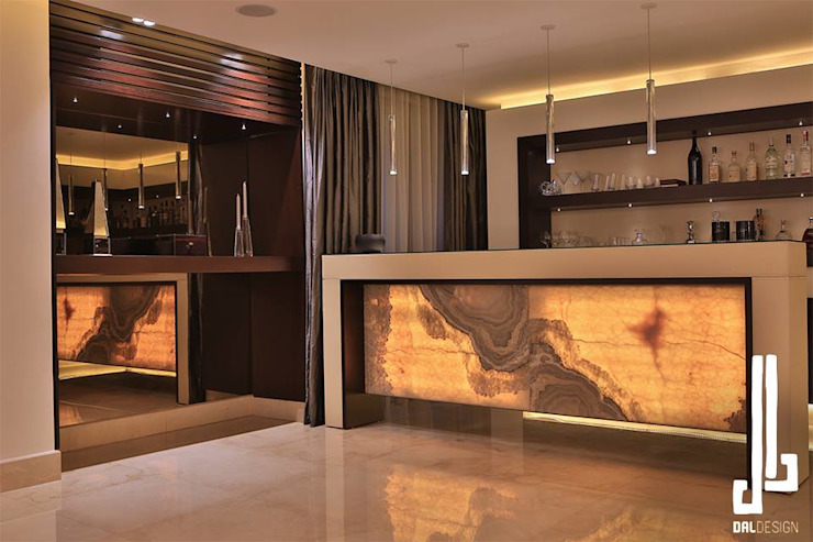 Nassars Private Villa Modern Home Wine Cellar by dal design office Modern