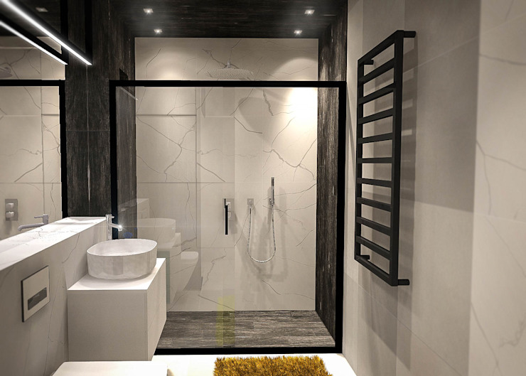 現代浴室設計點子、靈感&圖片 根據 Luxon Modern Design Łukasz Szadujko 現代風