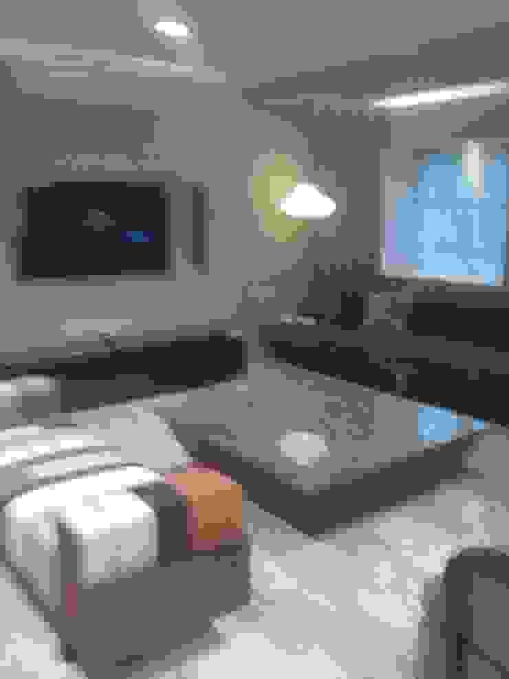 DUPLEX BUNGLAW Modern living room by R.S Interiors Modern