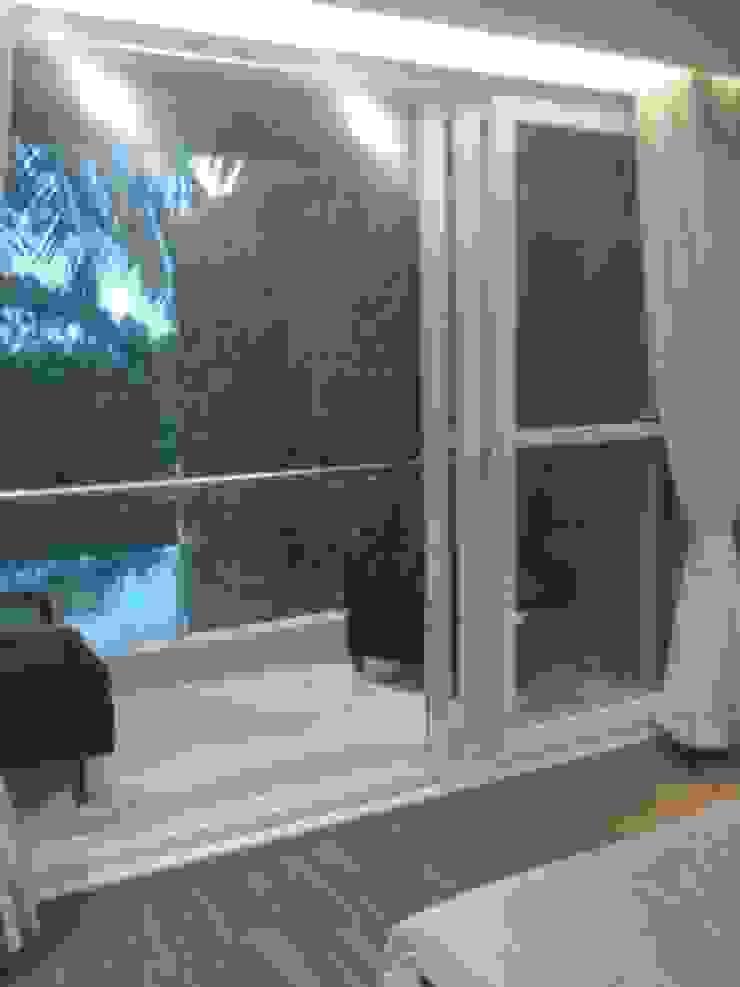 DUPLEX BUNGLAW Modern balcony, veranda & terrace by R.S Interiors Modern