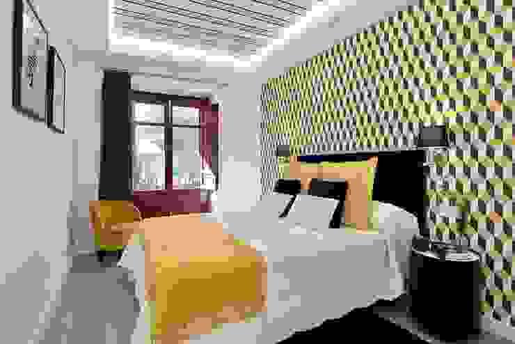 Dormitorios de estilo ecléctico de ESPACIOS, ALBERTO ARANDA Ecléctico