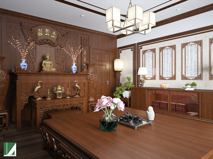 Nhà ở Lô Phố 5 tầng : hiện đại  by Kiến trúc Việt Xanh, Hiện đại