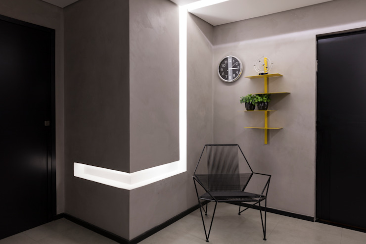 Sala de Espera Espaços comerciais modernos por Semíramis Alice Arquitetura & Design Moderno