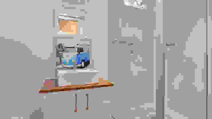 現代浴室設計點子、靈感&圖片 根據 Umnyama Ikhaya 現代風