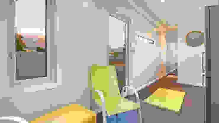 现代客厅設計點子、靈感 & 圖片 根據 Umnyama Ikhaya 現代風