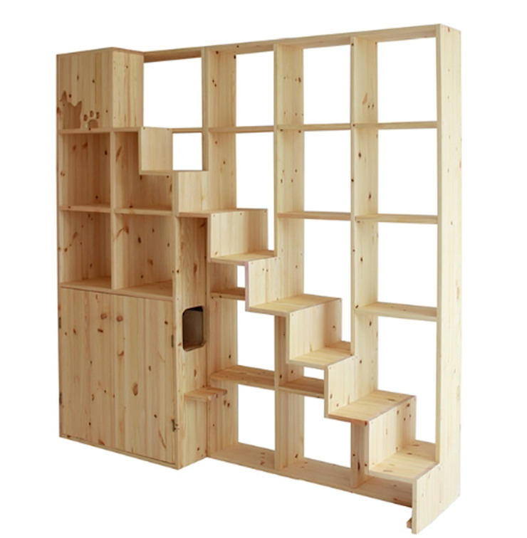책장형 원목캣타워: (주)위드인디자인의 현대 ,모던 우드 우드 그레인