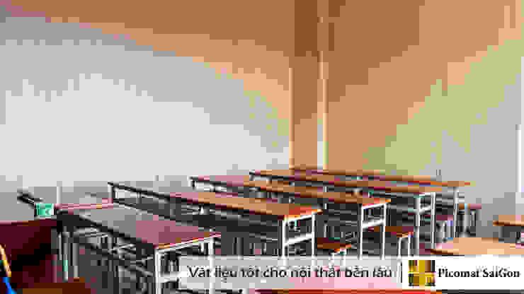 Không gian bên trong lớp học được ngăn bằng vách ngăn nhựa bởi Picomat Sài Gòn