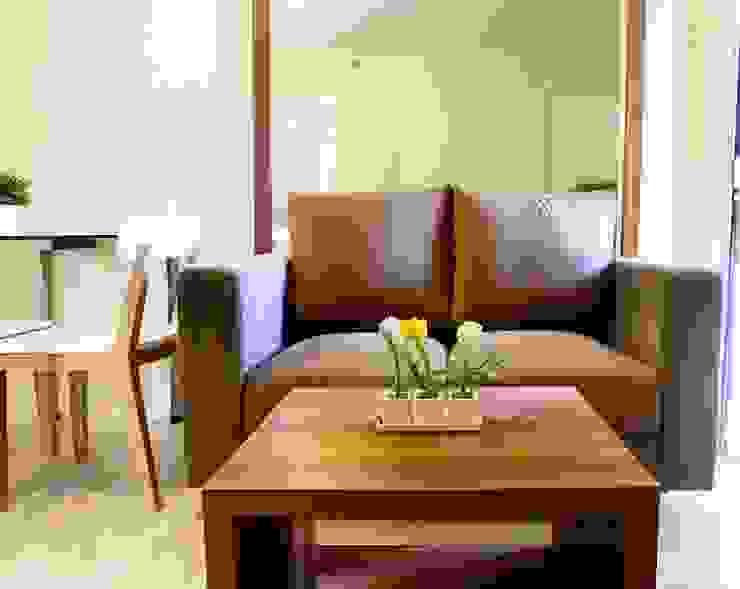 APARTEMEN MINIMALIS: Ruang Keluarga oleh FIANO INTERIOR,