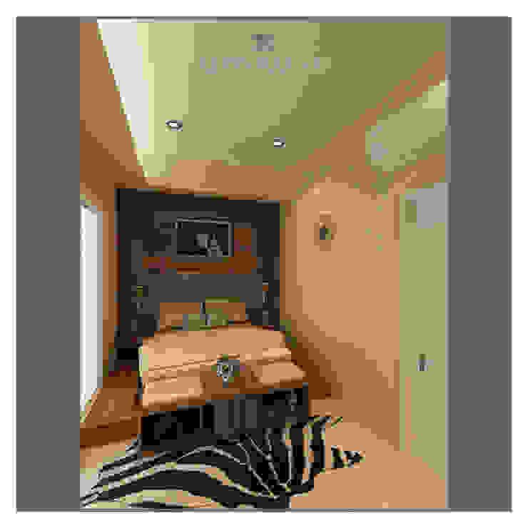 Minimalist bedroom by Lenny indriani design Minimalist Engineered Wood Transparent