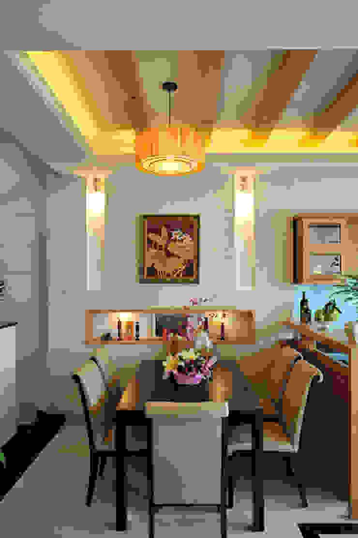 Phòng khách và bếp thông thoáng và xanh mát Phòng ăn phong cách hiện đại bởi Công ty TNHH Xây Dựng TM – DV Song Phát Hiện đại