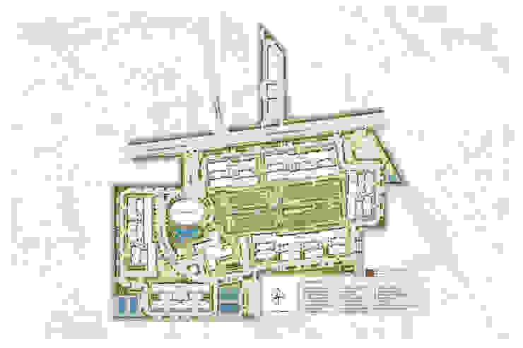 Site plan Modern garden by NMP Design Modern