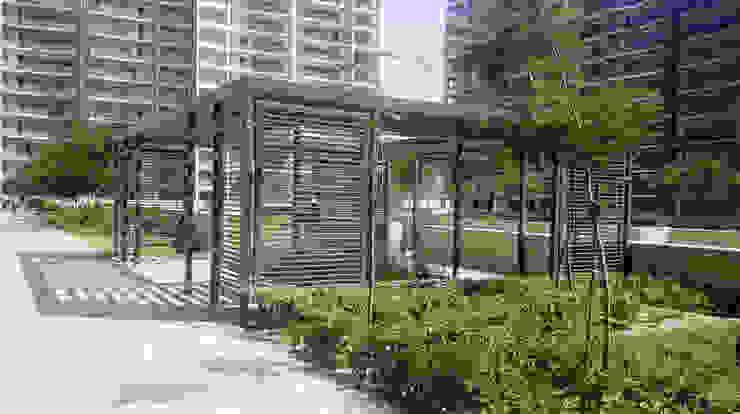 The trellis Modern garden by NMP Design Modern
