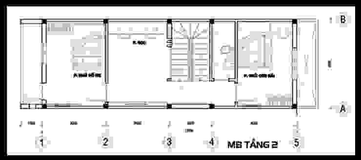 Bản vẽ mặt bằng tầng 2 bởi Công ty TNHH TK XD Song Phát Châu Á Đồng / Đồng / Đồng thau